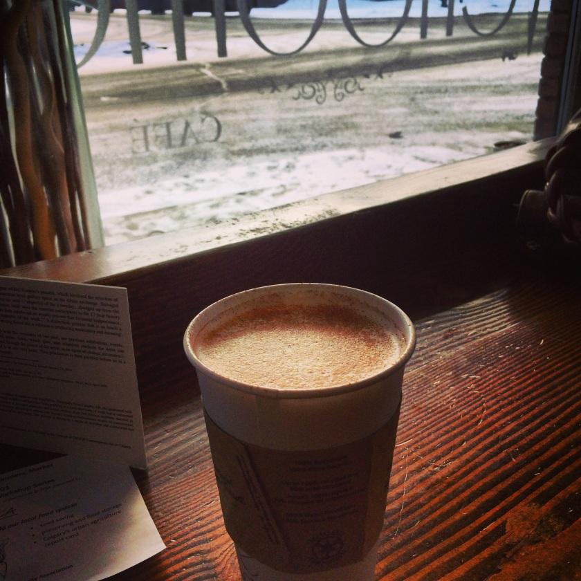 Chai latte at Vendome
