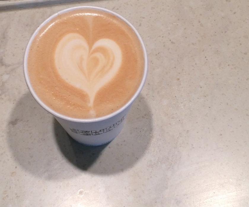 Fratello Analog latte at the Calgary Farmers Market