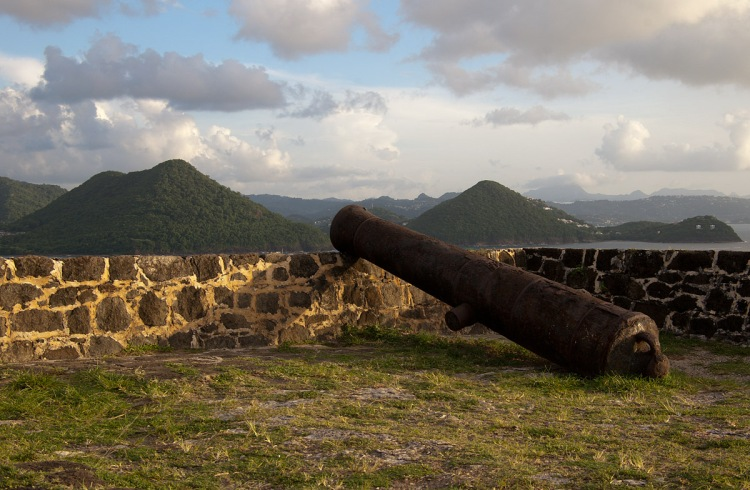 Cannons on Fort Rodney, Pigeon Island, St Lucia Photo by Global Ranger/flickr.com